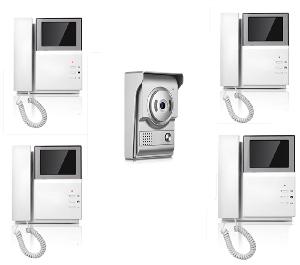 4.3 Inch IR Night Vision 1V4 Two Way Intercom Video Door Phone XSL-43E156-L