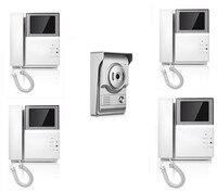 4 3 pulgadas IR visión nocturna 1V4 dos vías intercomunicador Video puerta teléfono XSL 43E156 L|Videointercomunicador automático| |  -