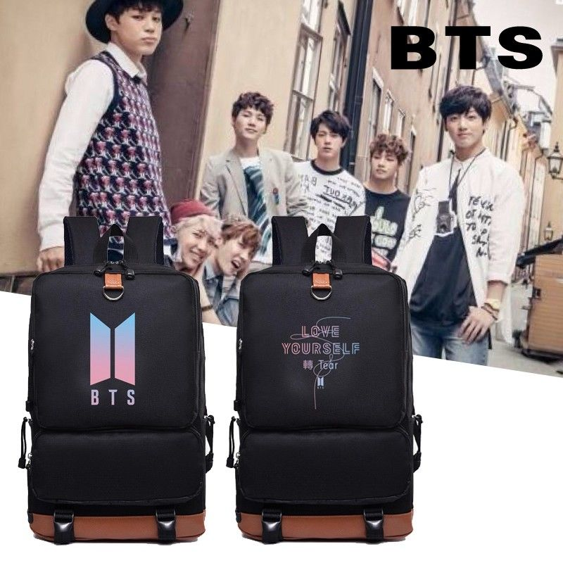 KPOP Bangtan Boys BTS LOVE YOURSELF Tear Backpack Bookbag Shoulder Bag Suga V Back to School Travel Bag