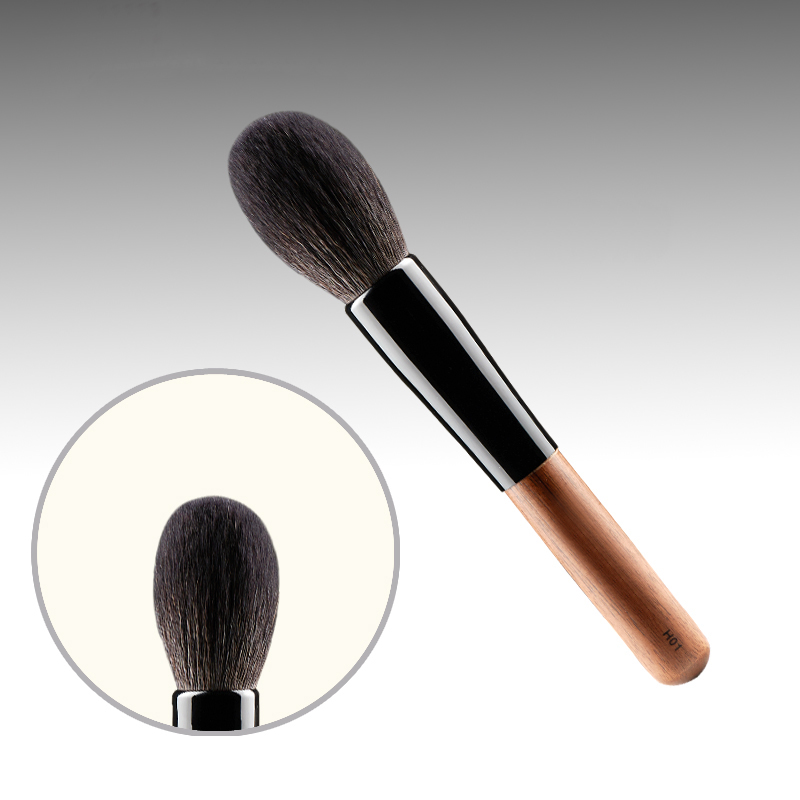 H01 Professional Makeup Brushes Squirrel Hair Sokouhou Goat Hair Powder Brush Walnut Wood Handle Cosmetic Tools Make Up Brush new arrival make up professional brand luxury classic wood handle wavy hair lightweight no 130 large dome shaped powder brush