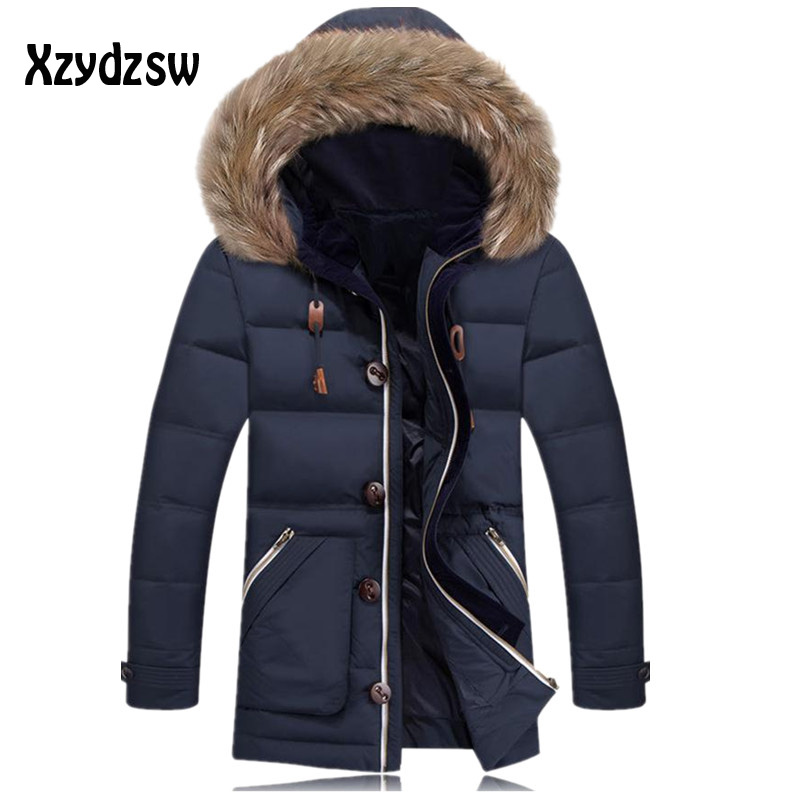 Winter Jacket Brand Men 2016 New Spring Mens White Duck Down Jacket Coats Casual Thick Outwear For Men Plus size Male 3XL