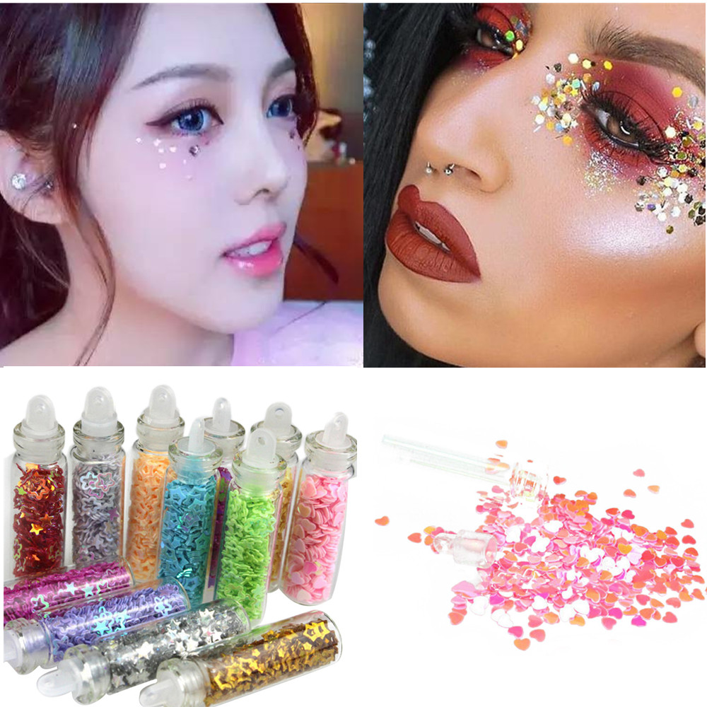 Glitterinjections Pressed Glitters Party Flash Eyeshadow Diamond Rainbow Make Up Cosmetic Nail Glitters Face Eye shadow stickers