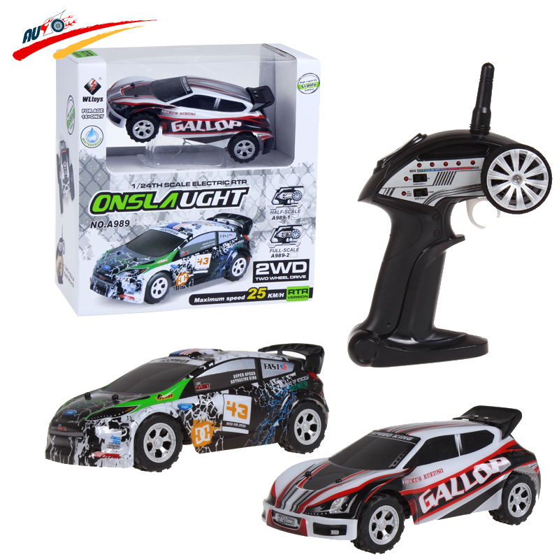 RC Cars Wltoys A989 Racing Drift 1 24 Buggy Alloy Chassia Remote Control Stunt Car 2