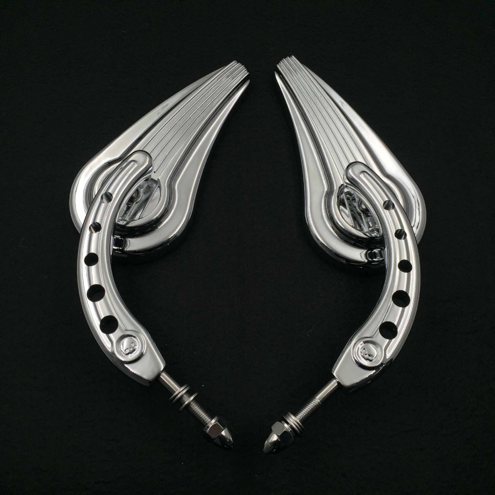 Aftermarket free shipping motorcycle accessories retroviseur moto For 1984 and up Harley Touring Street Glide Road Glide Special