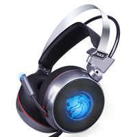 Zop n43 estéreo gaming headset 7.1 surround virtual baixo gaming fone de ouvido com microfone led luz para computador computador gamer