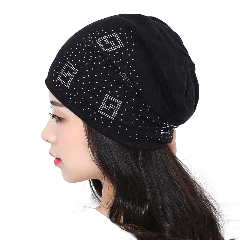 Autumn brand hat women beanie winter hats for womens knitted bonnet men beanies cotton Solid color gorro Turban Hip Hop cap hip hop beanie hat baggy unisex cap thick warm knitted hats for women men bonnet homme femme winter cap plus velvet beanies