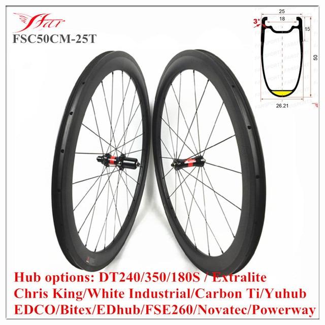 Buy Fsc50cm 25t Clincher Wheelset 50cx25mm Carbon