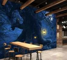 Индивидуальные обои 3d Лес Дерево ночь для гостиной спальни