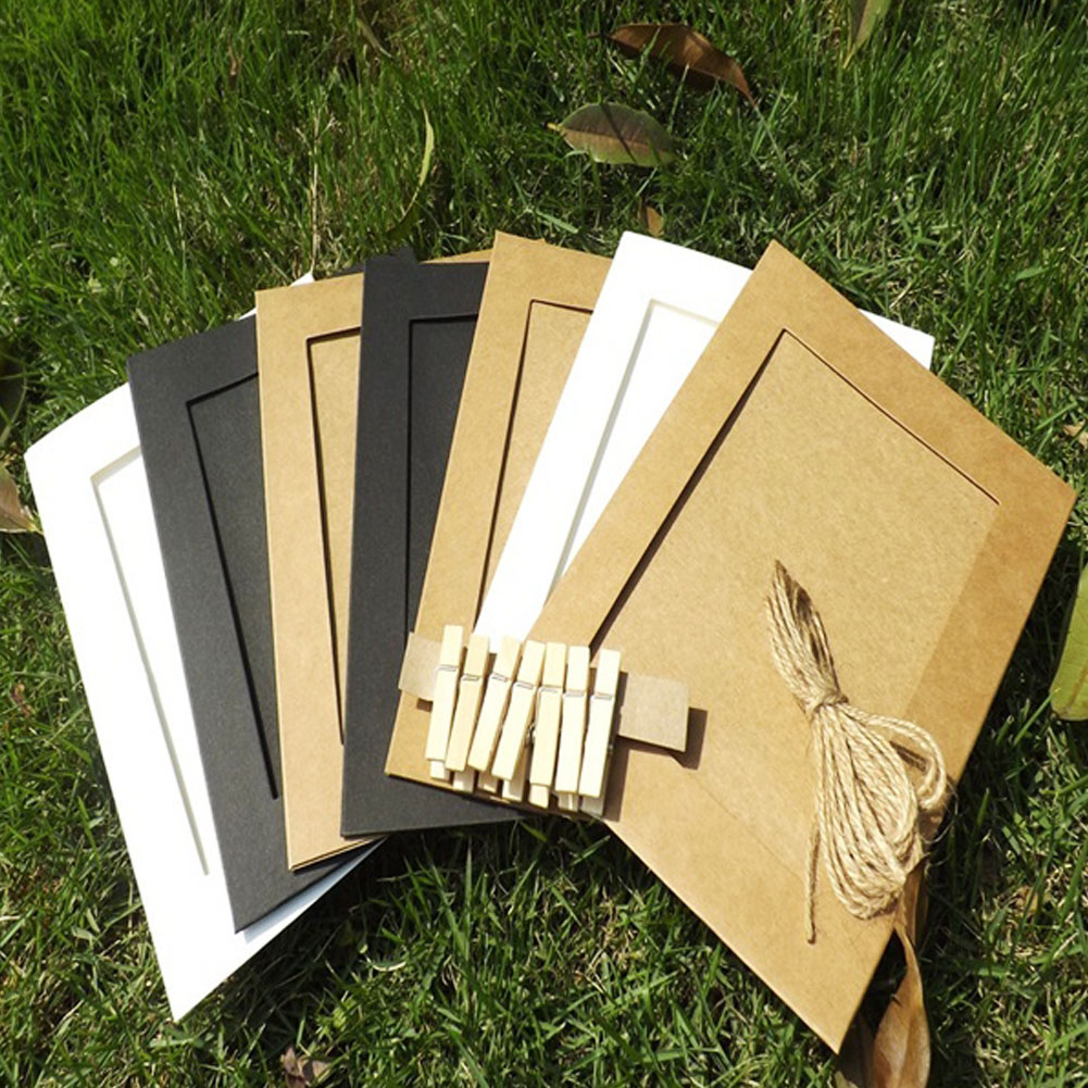 10 teile/los 3/6 zoll papier bilderrahmen für bilder vintage rahmen ...