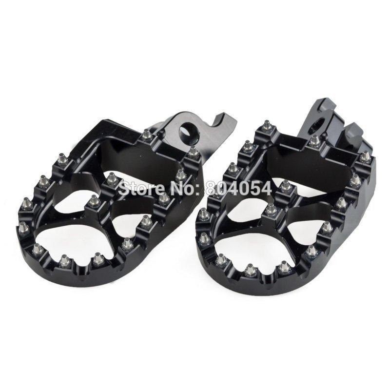Υποδήματα Billet CNC Wide Foot Pegs For Honda CR125R CR250R 2002-2007 CRF150R 2007-2015 BLK