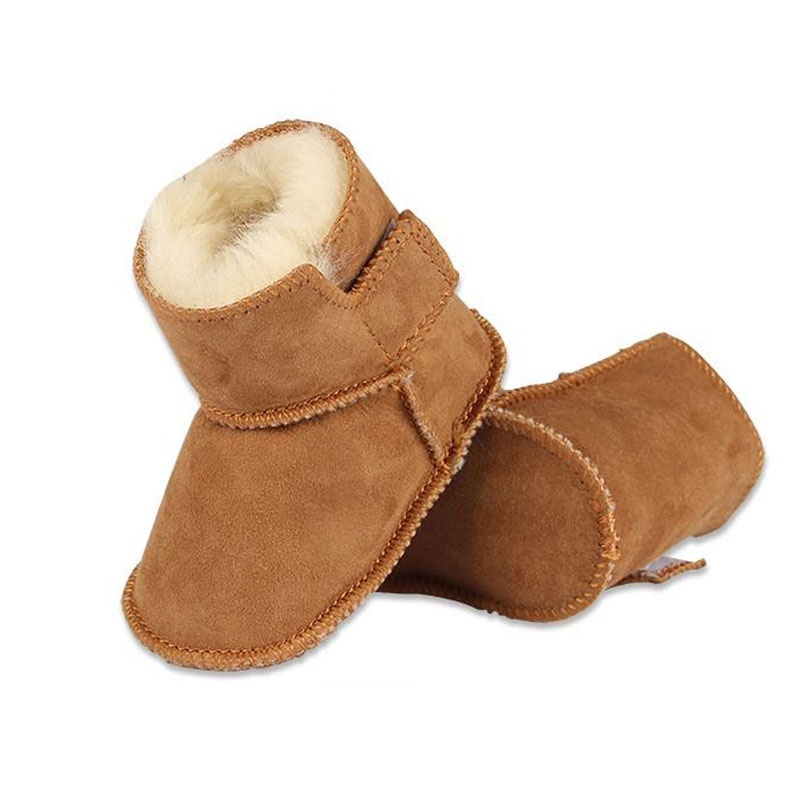 Winter Keep Warm Baby Boy Boots Infant Plus Velvet Girl Shoes Faux Fur Snow Baby Boots Baby Booties Leather Boy Baby Boots