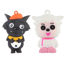 Cute Silicone Model Goat and Big Big Wolf 4GB 8GB 32GB 16GB Memory Stick U Disk PenDrive Pen Drive USB Flash Drive U Disk 16gb silicone bracelet u disk orange