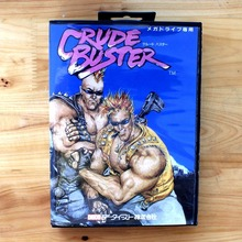 Crude Buster 16 Bit MD Game Card with Retail Box for Sega MegaDrive & Genesis Video Game console system