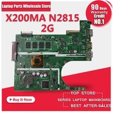 Freies verschiffen Ursprüngliche laptop Laptop motherboard FÜR ASUS X200MA K200MA F200MA mainboard Mit N2815 CPU 2G Integrierte völlig test