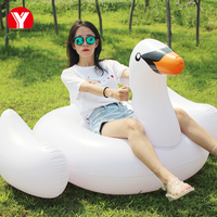 150cm white swan float 60inch inflatable white pool water air mattress toys in summer water game giant inflatable swan for pool