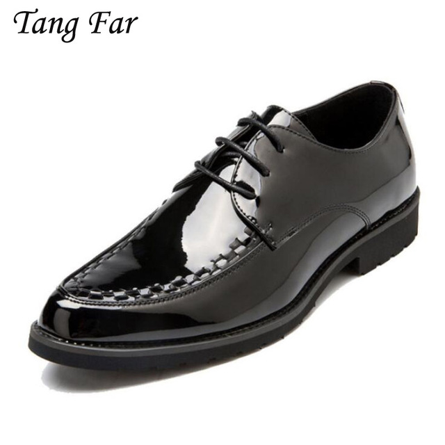 Handmade Men Formal Shoes Patent Leather Office Business Wedding