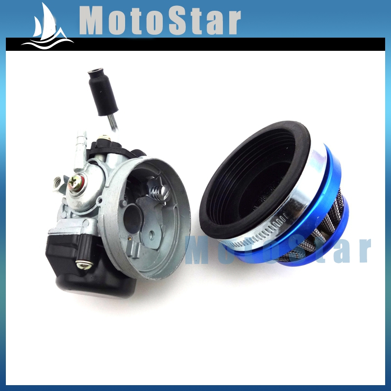 Performance carburetor 58mm blue air filter for 49cc 50cc 60cc performance carburetor 58mm blue air filter for 49cc 50cc 60cc 66cc 80cc 2 stroke engine gas motorized bicycle push bike in carburetor from automobiles fandeluxe Gallery