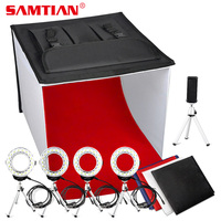 SAMTIAN K60II Foldable Photo Box LED Softbox Studio Light Box 3200K 9000K CRI85 Lightbox for Jewelry Photography Shooting Tent