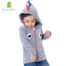 Svelte Brand Kids Boys Cute Polar Fleece Dinsaur Role Play Hoodies Children Boy s Eyes embroidery