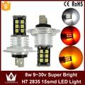 Night Lord 1pcs Nonpolarity Canbus H7 LED fog lamp fog light 9~30V 15LED 2835chip auto car foglight headlight