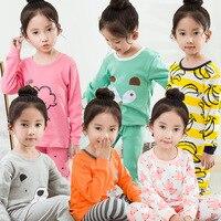 V TREE Kids Girls Boys Pajamas Sets Pyjamas Kids Pajama Infantil Sleepwear Home Clothing Cartoon Cotton