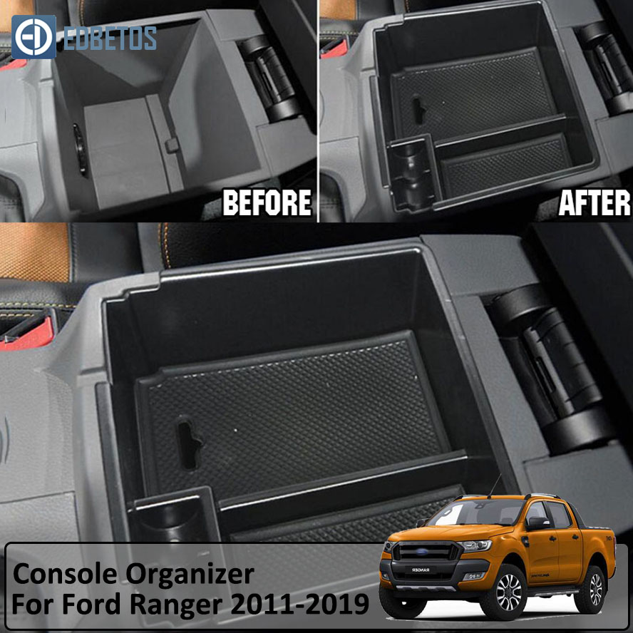Armrest Box For For Ford RANGER 2011- 2016 2017 2018 Central Armrest Storage Box Container Holder Tray Car Organizer Accessories