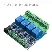 Modbus RTU 4 Channel Relay Module 4CH Input Optocoupler Isolation RS485 MCU For Arduino(China)
