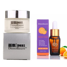 Dimollaure Retinol whitening cream + Vitamin C serum Acne treament Remove Freckle melasma pigment Melanin sunburn brown Spots
