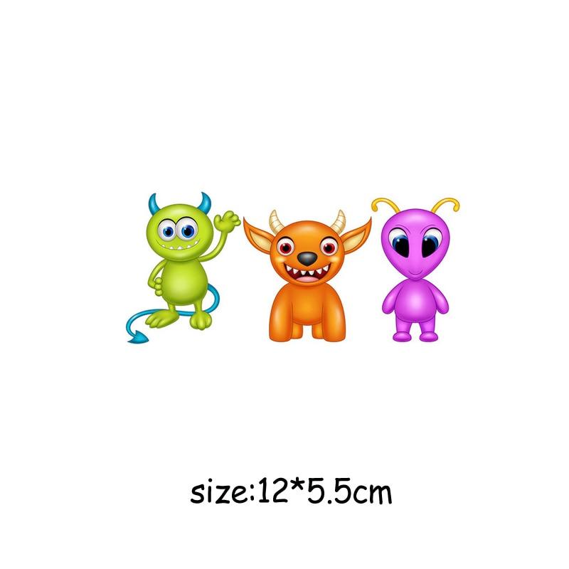 Милый мультфильм животных Комбинации гладить на патч ручной работы термоприклеивание, наклейки для Костюмы значки аппликаций для украшения из ткани - Цвет: J-61-36