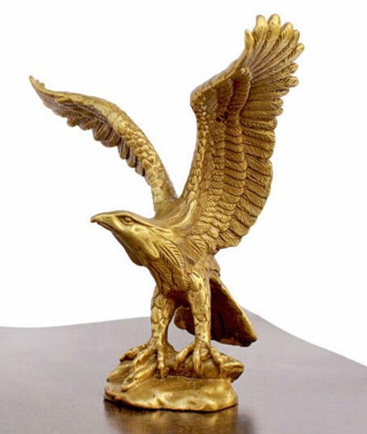 "WBY---524+++China BRASS Brass Statue EAGLE/Hawk Figure figurine 4.5""High"