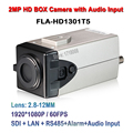 2MP 1/2.8 Inch CMOS 1080P HD-SDI LAN IP Onvif RTSP RTMP Audio Input HDSDI Box Camera With Visca, Pelco-D, Pelco-P Protocols
