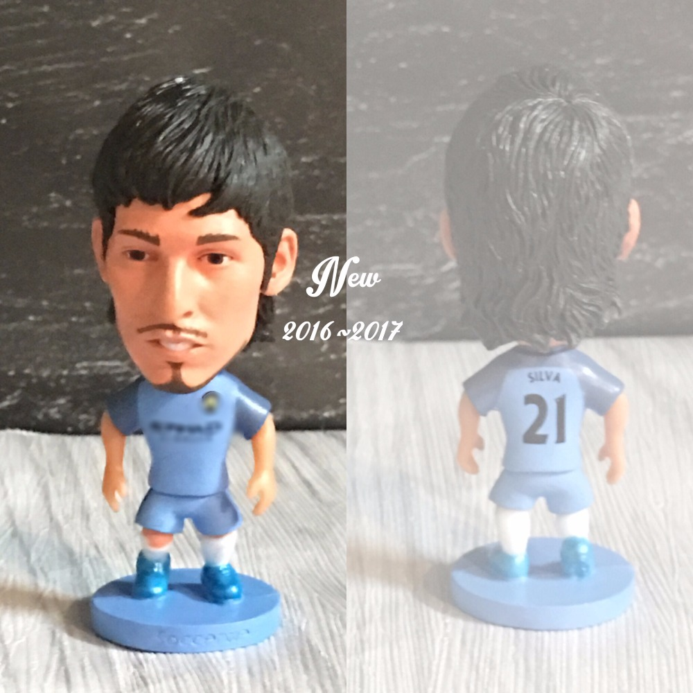 Soccer figurine sports stars David Silva2016-2017 Movable joints resin model toy action figure dolls collectible boyfriend gift
