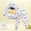 Nova roupa do bebê roupas íntimas do bebê impressão de algodão conjuntos de roupa interior da roupa do bebê de outono e inverno 1-3 anos de idade roupas