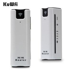 Image 1 - KuWFi 21.6Mbps ロック解除屋外旅行 3 グラム無線 Lan ルータ無線スマートモバイル Wifi ルータの電源銀行と SIM カードスロット