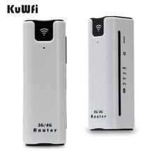 KuWFi 21.6Mbps مقفلة السفر في الهواء الطلق 3G موزع إنترنت واي فاي اللاسلكية الذكية جهاز وايفاي محمول قوة البنك جهاز توجيه ببطاقة SIM فتحة