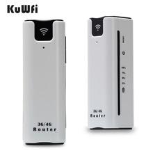 KuWFi 21.6Mbps kilidi açık seyahat 3G WIFI yönlendirici kablosuz akıllı mobil wifi router güç bankası sim kartlı router yuvası