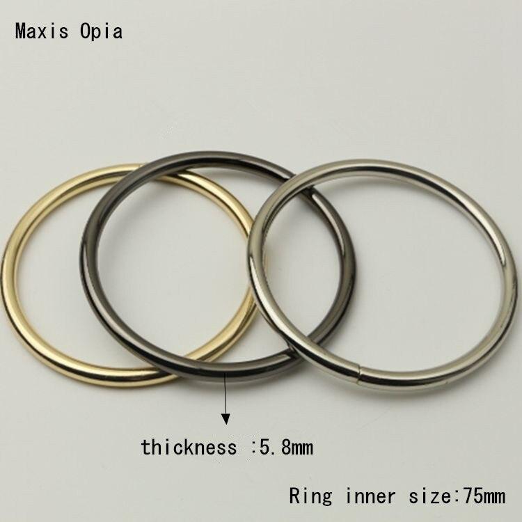 (10 pieces/lot) 7.5cm inner Metal Circle Handle Hardware Obag Purse Frame Bag Handle DIY Accessories Metal O Ring Purse Handle