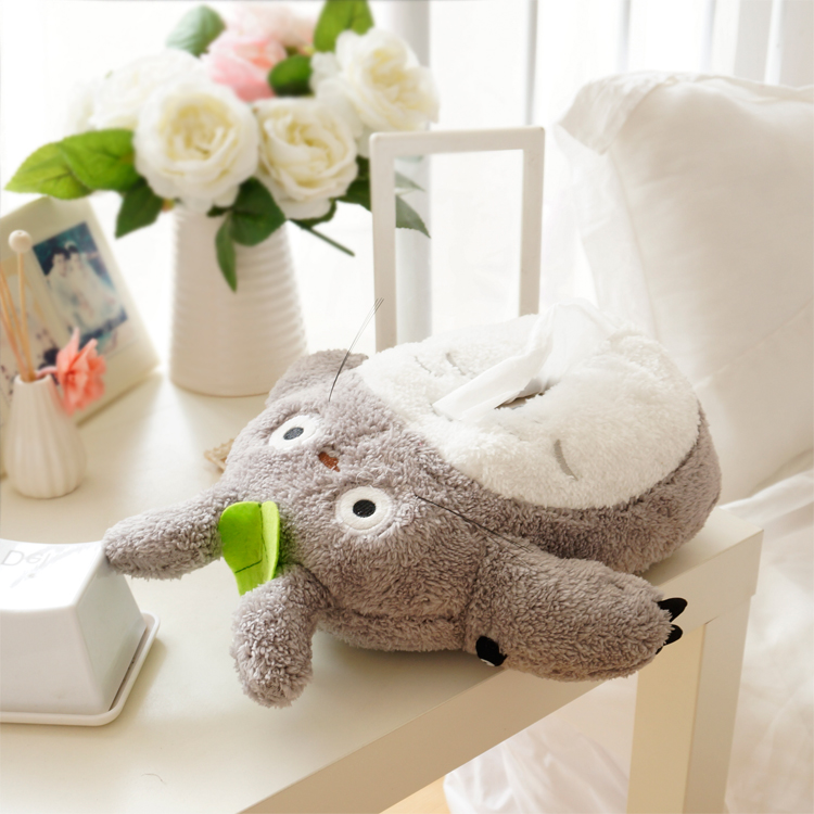candice guo Lovely cartoon plush toy Anime gray Totoro