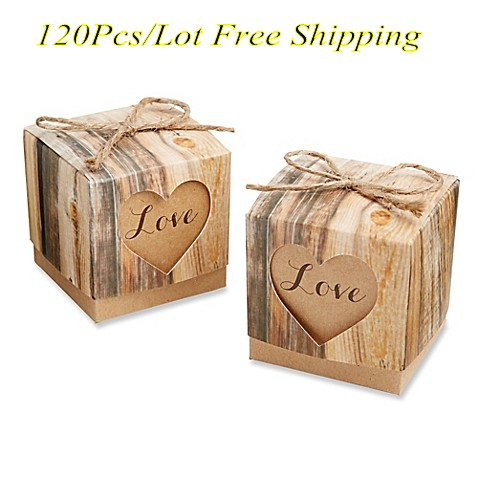 Aliexpress Buy 120pcslot Love Heart Rustic Wedding Candy