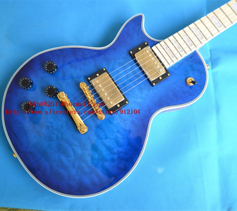 Big John new cusomized left hand  electric guitar in blue with maple fingerboard custom guitar made in China  F-3148 big john модель 65d