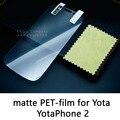Lucent brillante clear frosted mate antideslumbrante protector de pantalla de cristal templado película protectora para yota yotaphone 2 yota teléfono 2