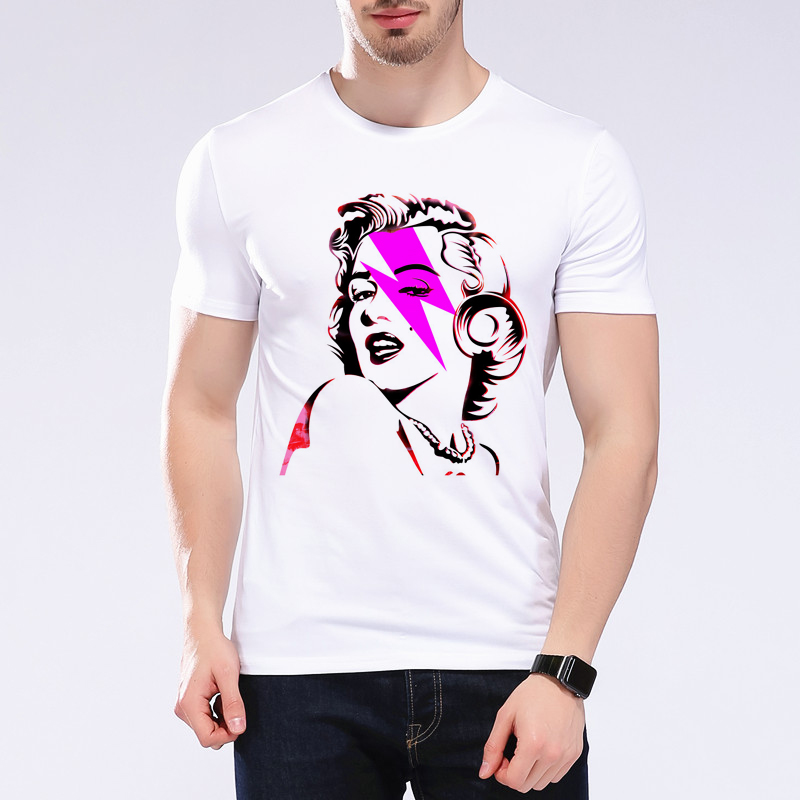 Funny Sexy Marilyn Monroe Tattoo Summer Style T Shirt 3D Printed Short Sleeve Homme Camiseta Classic Graphic Printed Tees L1C49