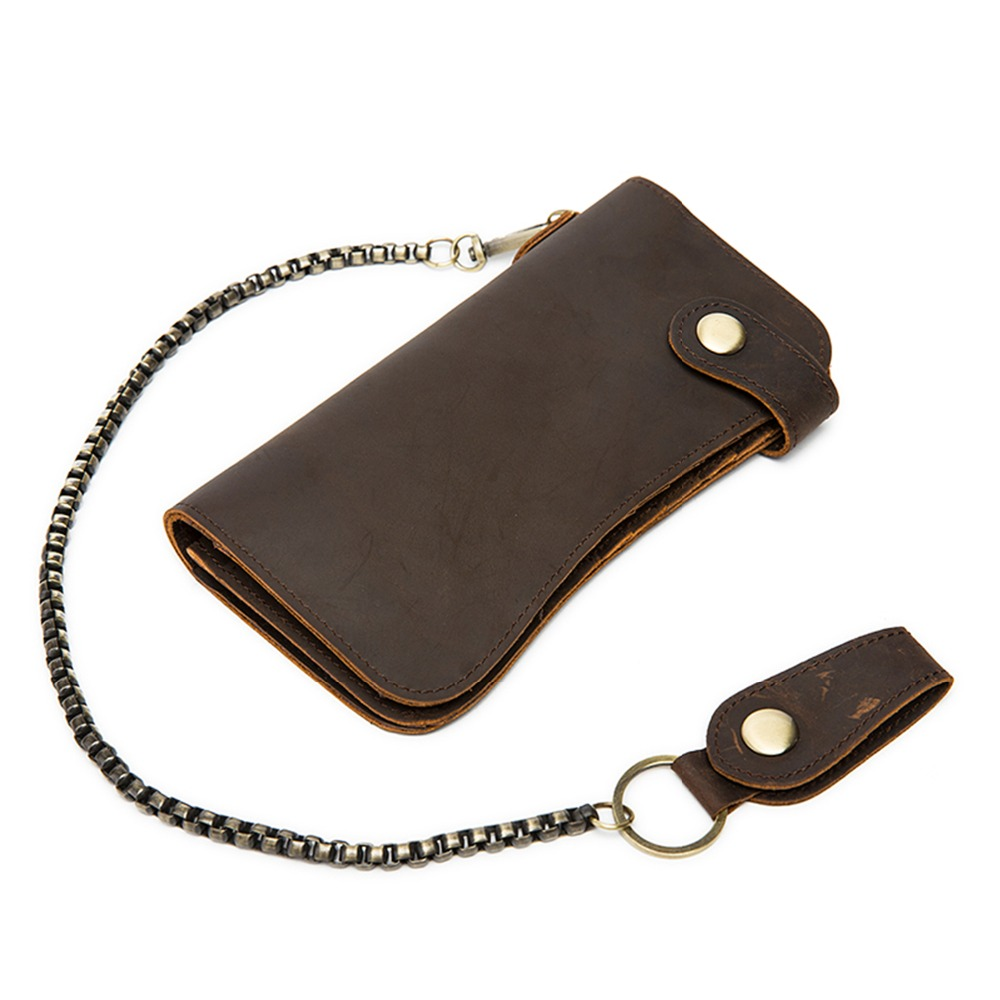 купить Men Wallets Brand Genuine Leather Money Bag Male Vintage Purse Long Clutch Cow Leather Wallet Man Zipper Coin Pocket Card Holder недорого