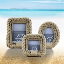 New Creative Hemp Rope Photo Frame European Pastoral Wooden Home Decoration Picture 4 Inch 6 7