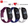 Pulseira inteligente Pulseira Monitor De Freqüência Cardíaca Do Bluetooth 4.0 Passometer H3 Esportes Aptidão Rastreador Smartband Para IOS Android Phone