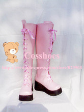 Custom made pink Kairi Shoes boots from Kingdom Hearts Cosplay