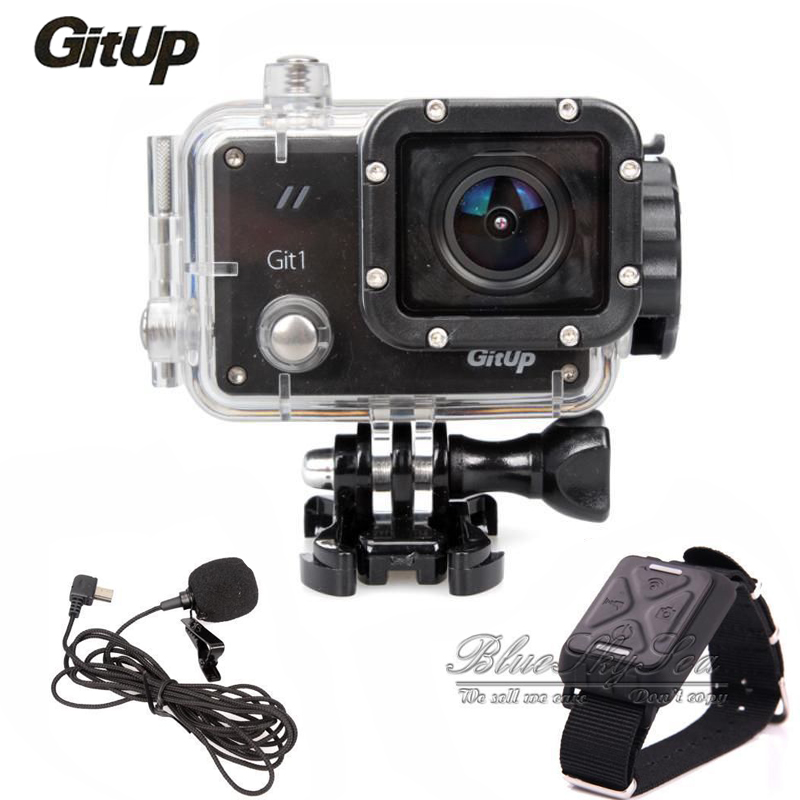 Original GitUp Git1 Sports Action Camera Novatek 96655 Full HD 1080P  WiFi Video DVR Action Cam with Mic and Remote Control free shipping gitup git2 16m ultra 2k wifi dv sports action helemet camera 18 in 1 accessories