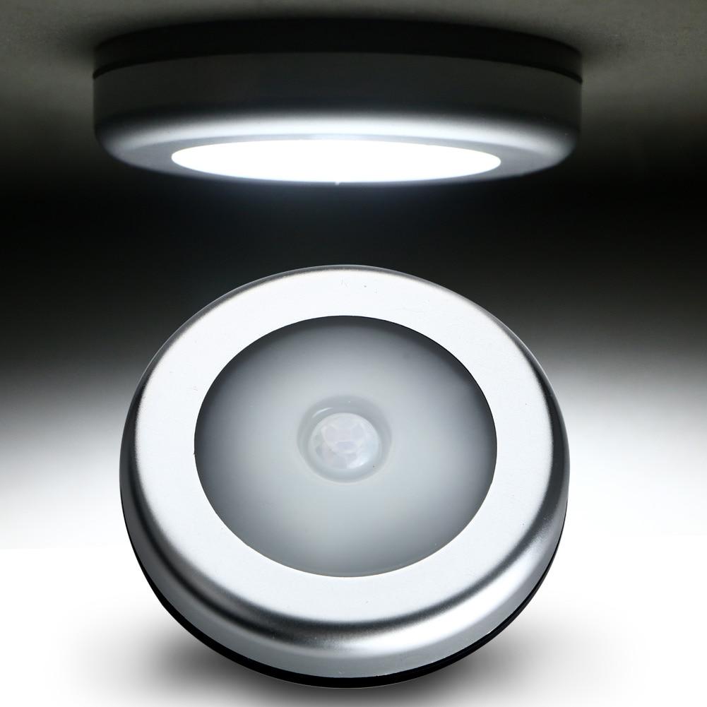 Беспроводной зондирования режим движения Сенсор активированный Ночная 6 светодиодный шкаф коридор кабинет индукции лампа ночник коридор отель