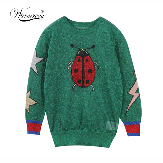 fashion 2018 new spring summer butterfly ladybug star Gold and silver lurex hollow  out knitting cute 6262c701f