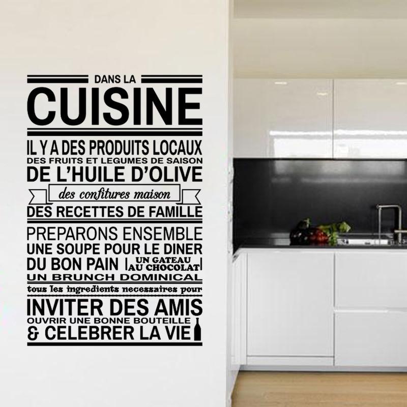 Cuisine Proverbes Art Autocollants Restaurant Cuisine Amovible